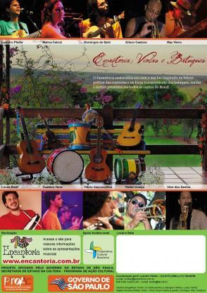 """Cartaz do Projeto """"Encantoria, Violas e Batuques"""" 2009"""