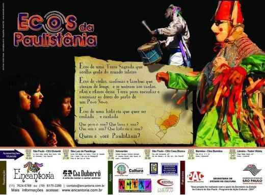 """Cartaz do projeto """"Ecos da Paulistânia"""" (2008)."""