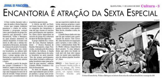 Reportagem sobre apresentação especial no SESC Piracicaba